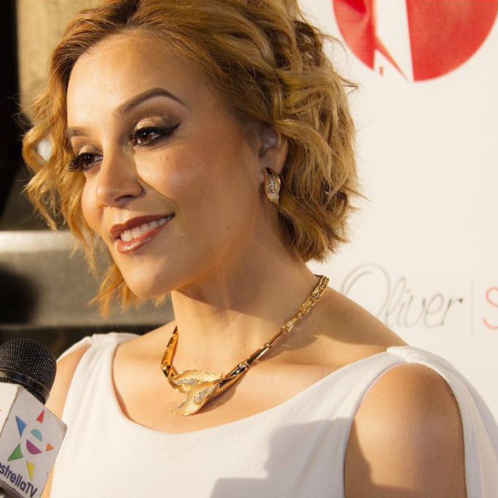 Rosie Rivera at LA Fashion night out produced by social lighthouse